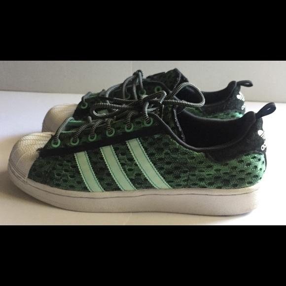 e0b5a4dc31f52 adidas Shoes | Green Mesh Camo Shell Toe | Poshmark